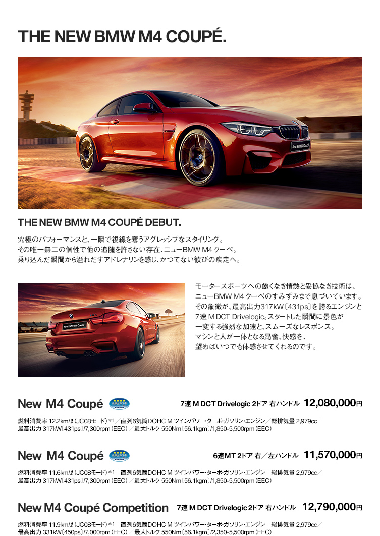 THE NEW BMW M4 COUPE.