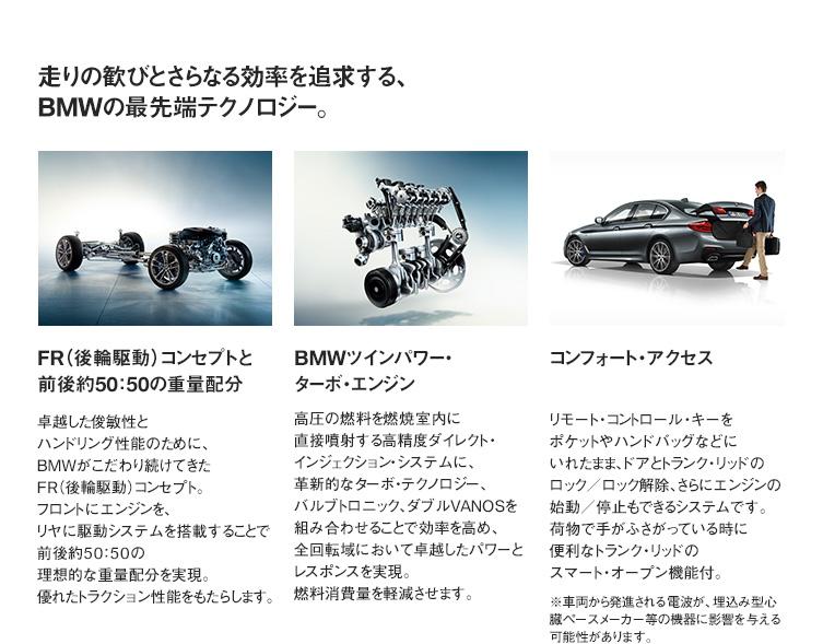 走りの歓びとさらなる効率を追求する、BMWの最先端テクノロジー。